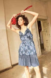 Sukienka ORSAY mini na ramiączkach z tkaniny