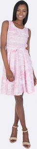 Różowa sukienka Giorgio Di Mare z bawełny midi bez rękawów