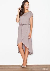 Sukienka Figl asymetryczna z tkaniny