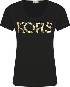 T-shirt Michael Kors w młodzieżowym stylu z okrągłym dekoltem