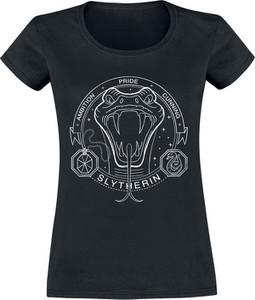 Czarny t-shirt Emp w młodzieżowym stylu