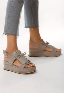 Sandały born2be w stylu casual ze skóry ekologicznej