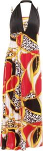 Sukienka Dedra prosta z dekoltem w kształcie litery v