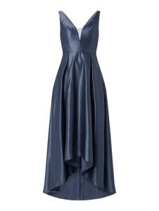 Sukienka Swing maxi z satyny z dekoltem w kształcie litery v