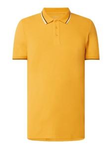 Żółta koszulka polo Esprit w stylu casual z krótkim rękawem