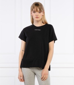 Czarny t-shirt Calvin Klein Underwear z okrągłym dekoltem z krótkim rękawem