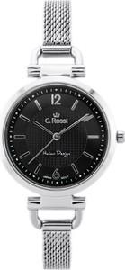 ZEGAREK DAMSKI GINO ROSSI - LESTI - 3652B (zg772b) - silver/black + BOX - Srebrny
