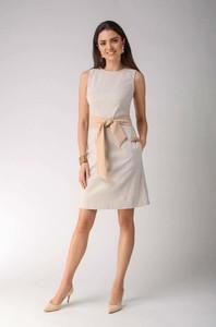 Sukienka Nommo bez rękawów midi z bawełny