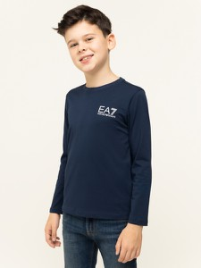 Granatowa bluzka dziecięca EA7 Emporio Armani