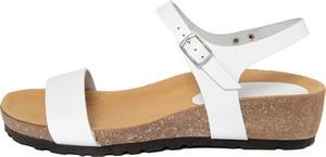 Sandały Piemme Shoes na koturnie na średnim obcasie ze skóry