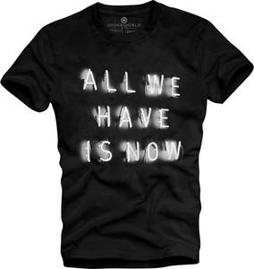 T-shirt Underworld z bawełny z krótkim rękawem w młodzieżowym stylu