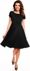 Czarna sukienka Awama midi