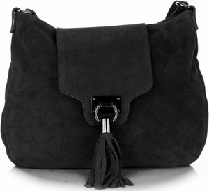 Torebki skórzane listonoszki firmy genuine leather czarne