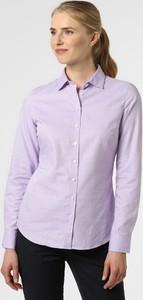 Fioletowa bluzka Marie Lund z kołnierzykiem