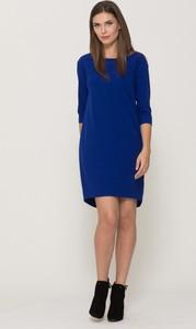 Niebieska sukienka VISSAVI mini w stylu casual asymetryczna