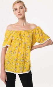 Żółta bluzka born2be z krótkim rękawem
