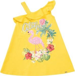 Żółta sukienka dziewczęca Mayoral