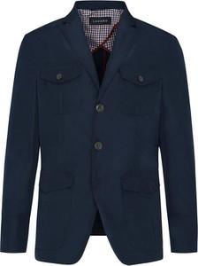 Granatowa kurtka Lavard krótka w stylu casual