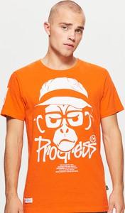 Pomarańczowa koszulka Cropp