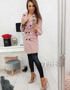 Różowy płaszcz Dstreet w stylu casual