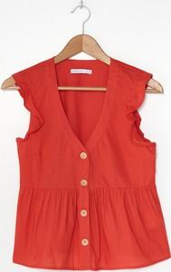 Czerwona bluzka House z dekoltem w kształcie litery v