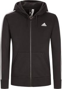 Czarna kurtka Adidas z bawełny w młodzieżowym stylu