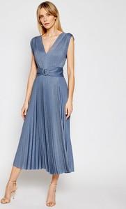 Sukienka Marella bez rękawów midi z dekoltem w kształcie litery v