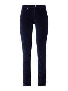 Granatowe spodnie Cambio w stylu klasycznym z bawełny