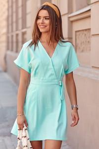 Zielona sukienka Fasardi kopertowa