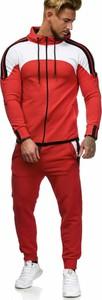 Czerwony dres Moda Dla Ciebie z bawełny