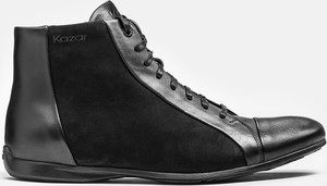Czarne buty zimowe Kazar z nubuku