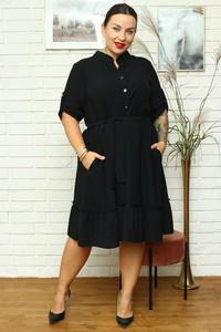 Czarna sukienka KARKO w stylu casual