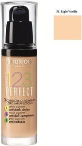 Bourjois, 123 Perfect Foundation, Podkład ujednolicający, nr 51 Light Vanilla, 30 ml