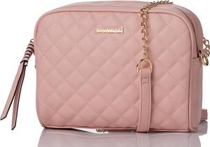 Różowa torebka Monnari pikowana na ramię