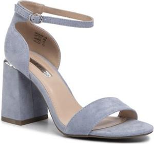 Niebieskie sandały DeeZee na wysokim obcasie z klamrami