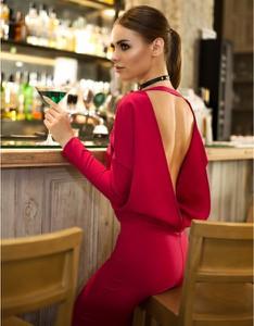 Sukienka fADD z długim rękawem ołówkowa