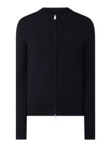 Granatowy sweter Emporio Armani w stylu casual
