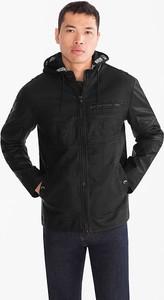 Czarna kurtka ANGELO LITRICO z bawełny w stylu casual