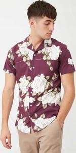 Koszula Jack & Jones z krótkim rękawem w młodzieżowym stylu z nadrukiem