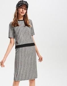 Spódnica Reserved w stylu casual ołówkowa z okrągłym dekoltem