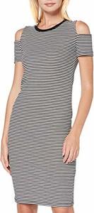 Sukienka amazon.de dopasowana midi w stylu casual