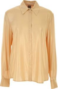 Złota koszula Pinko z długim rękawem