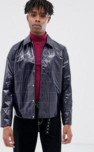 Granatowy płaszcz męski Asos Design