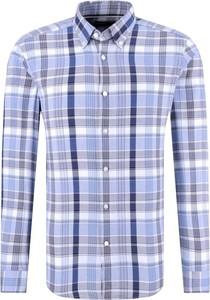 Koszula Hugo Boss z wełny w stylu casual z długim rękawem