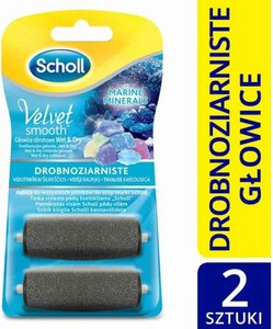 3709f1c4451 Scholl Velvet Smooth™ 2 Drobnoziarniste Wymienne Głowice Obrotowe z  Kryształkami Diamentów 1 op. -