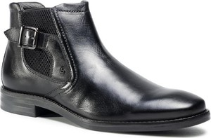 Czarne buty zimowe Bugatti ze skóry