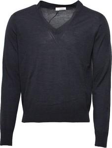 Czarny sweter Mauro Grifoni w stylu casual z jedwabiu