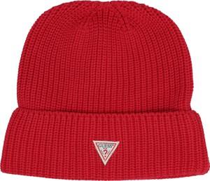 Czerwona czapka Guess Jeans