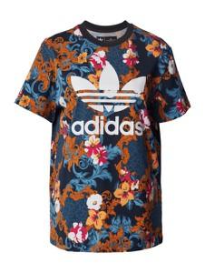 Bluzka Adidas Originals z okrągłym dekoltem z bawełny w sportowym stylu