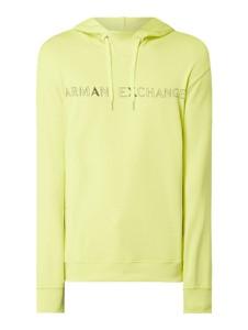 Żółta bluza Armani Exchange z bawełny z nadrukiem